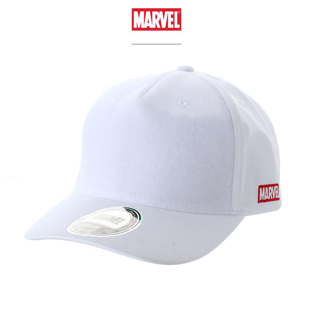 마블 볼캡 모자 화이트